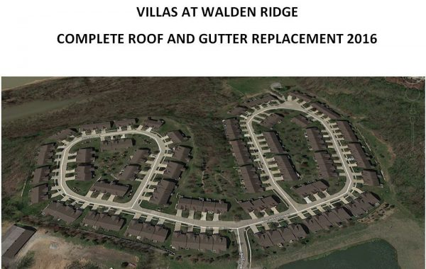 Villas at Walden Ridge Roofing Project